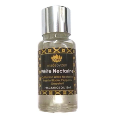 WHITE NECTARINE - Signature Scented Fragrance Oil Made By Zen 15ml